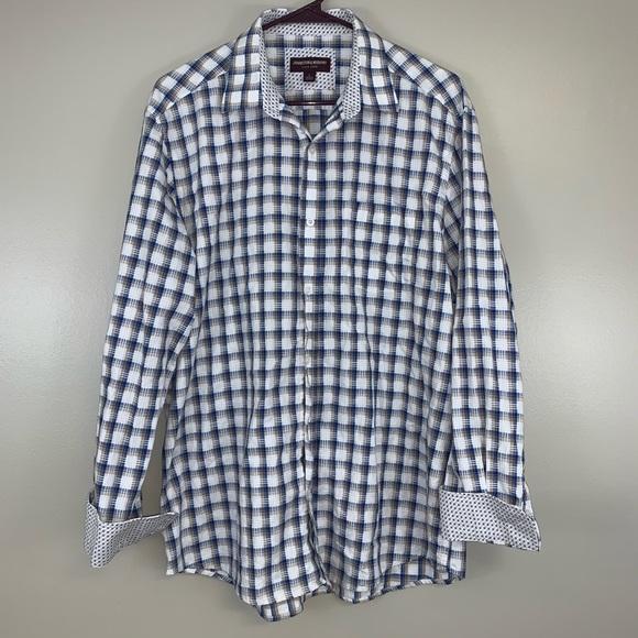 Johnston Murphy Check Button Up Dress